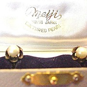 Silver and Cultured Pearl  Earrings Original Box