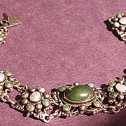 Austro Hungarian Silver, Turquoise  Bracelet
