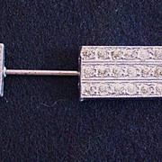 Pot Metal and Rhinestone Arrow Hat Pin
