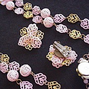 West Germany Filigree Necklace and Earrings
