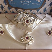 Vintage Imperial Jewels Parure New in Box
