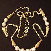 Baroque Faux Pearl  Necklace