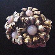 Brass and Dragon's Breath Rhinestone Ring