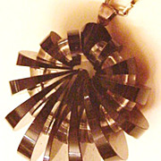 Art Deco Black Glass Necklace