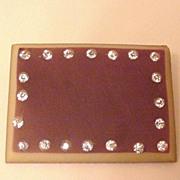 Art Deco Celluloid and Rhinestone Pin