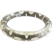 Carved Clear Lucite Bracelet