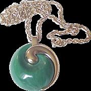 Trifari Green Necklace