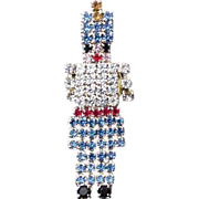 Rhinestone Holiday Nutcracker Pin