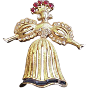 Rhinestone Doll Pin