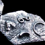 Mid Century Sterling Silver Modernist Bracelet