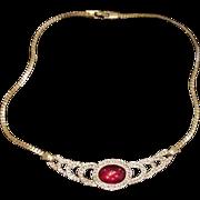 Napier Rhinestone Necklace