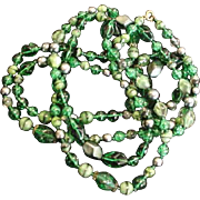 58 inch Strand Necklace Vibrant Green Glass