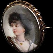 Antique Portrait Pin