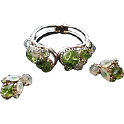 Juliana Shades of Green Bracelet and Earrings