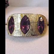 Vintage Rhinestone Cocktail Ring
