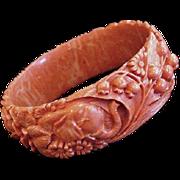 SALE Best Ever Coral Celluloid Bracelet