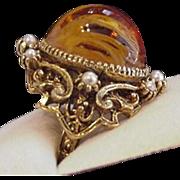 Topaz Rhinestone Cocktail Ring