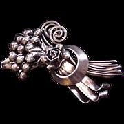 Large Sterling Hobe Pin