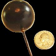 Extra Large Black Hat Pin