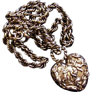 Butler and Wilson Large and Chunky Heart Necklace