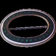 Antique Brass and Enamel Sash Pin