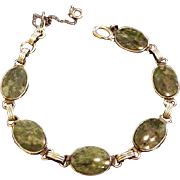 Gold Filled Jade Bracelet
