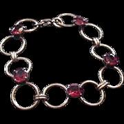 Art Deco Rhinestone Bracelet