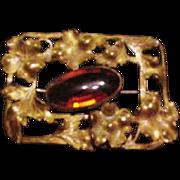 Brass and Glass Sash Pin