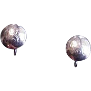Quality Sterling Silver Button Earrings
