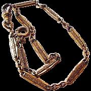 Antique Brass Watch Chain
