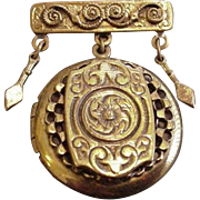 Victorian Revival Locket Pin