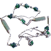Fun Green 60's Beads Necklace