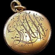 Antique Engraved Locket 1905
