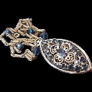 Juliana Midnight Blue Rhinestone Necklace