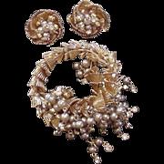 Wire Work Wrap Bracelet and Earrings