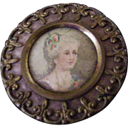 Antique Portrait Button