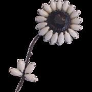 Weiss Rhinestone Flower Huge Pin