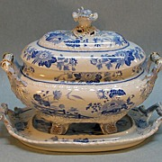 SALE Hicks and Meigh Ironstone Soup Tureen on Stand ca. 1825