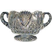 Pedestal Base Cut Glass Bowl ca. 1900