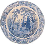 """Davenport Soup Plate """"Chinoiserie Ruins"""" ca. 1835"""