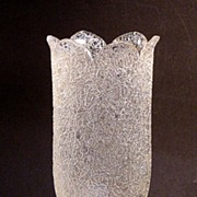 Victorian Overshot Glass Celery Vase