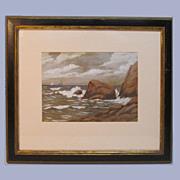 Watercolor/Gouache Seascape 1926