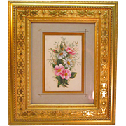 SOLD Victorian Watercolor Floral in Gilt Frame ca. 1875