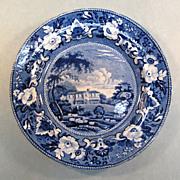 "Adams Blue Transfer Plate ""Gracefield, Ireland"""