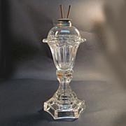 Sandwich Petal Font (Tulip) Whale Oil Lamp ca. 1850