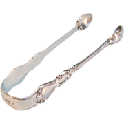Antique English Sterling Tongs 1867