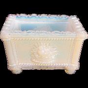 SALE PENDING New England Glass Company Opalescent White Salt ca, 1830