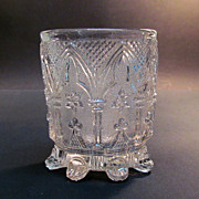Continental Lacy Glass Tumbler ca. 1840