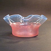 Victorian Opalescent Threaded Glass Bowl