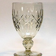 Anglo-Irish Cut Glass Vase in Pale Topaz
